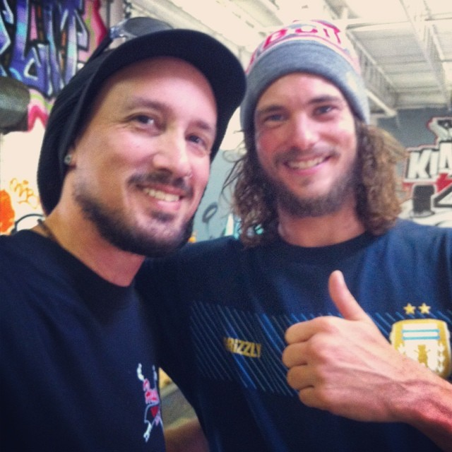Drew with Torey Pudwill, the King of Pop!